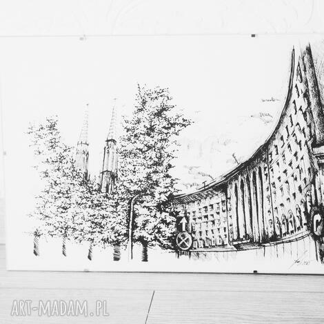 grafika warszawa praga północ, warszawa, grafika, rysunek, panorama