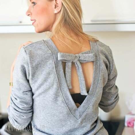 bluzy modna bluzka z fajnym wiązaniem na plecach kokardka xs s, redmasterclothes