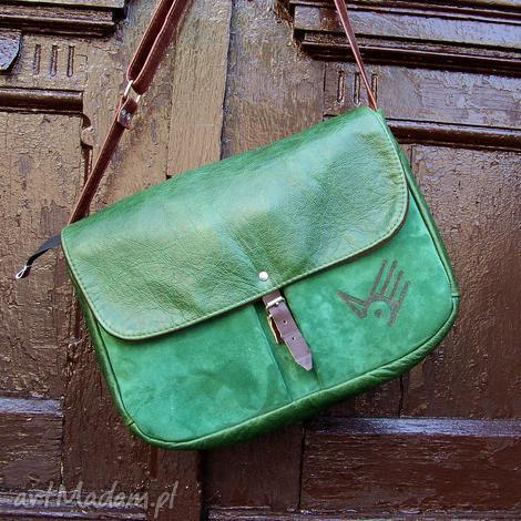 na laptopa wielka teka zielona skóra pull up i zamsz, pullup, skóra, zieleń