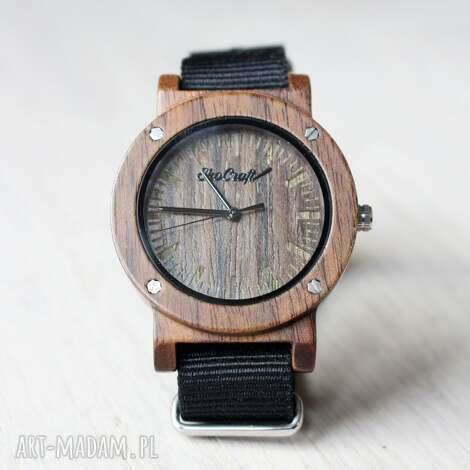 damski drewniany zegarek swift, sportowy zegarek, z drewna, czarny