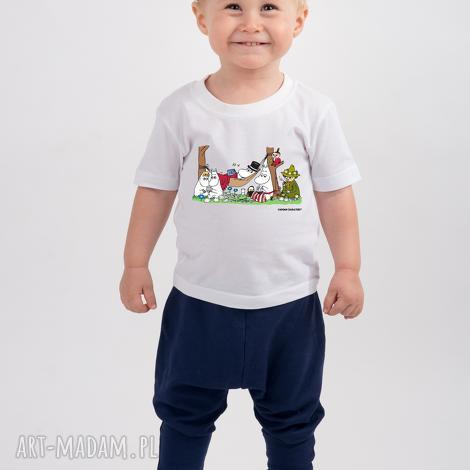 koszulki licencjonowana koszulka dziecięca muminki piknik, bawełna, muminki