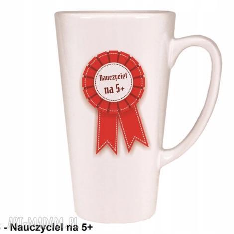 kubek latte nauczyciel na 5, latte, kubek, filiżanka, kawa, herebata, prezent