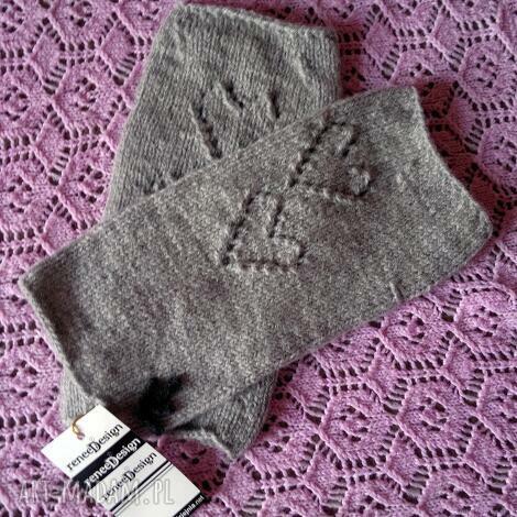 mitenki only light gray - mitenki, rekawiczki, rękawiczki, szare