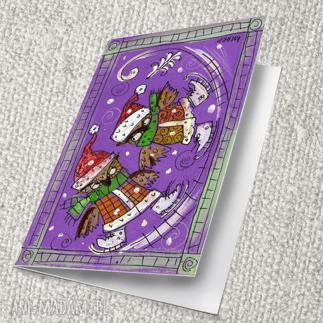 karti świąteczne - 10 11 12 13, 4mara, marinaczajkowska, obraz, prezent, kartka