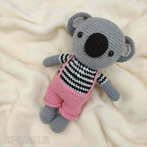 koala w spodenkach, koala, miś, miś maskotka, przytulanka, szydełkowa