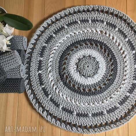 okrągły dywan azur - 120 cm zamówiony, dywan, zesznurka, ażurowy dom
