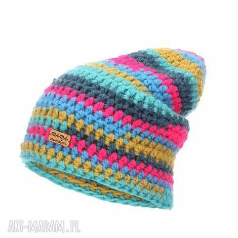 czapka hand made no 047 / beanie szydło, krasnal, z włóczki