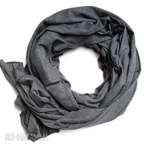 grafitowy szal bawełniany, chusta szalik szal damski na jesień, modny xl