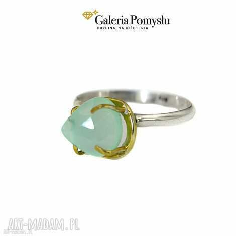 pierścionek z chalcedonem, pierścionek, srebrny, 925, chalcedon