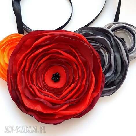kwiatowa kolia - piękny regulowany naszyjnik - naszyjnik, kolia, regulowany, kwiaty