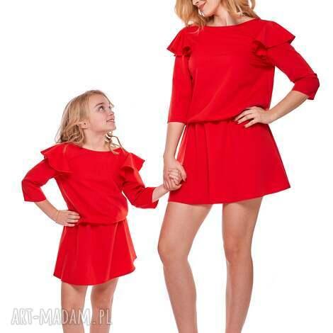 6f7f20cb8b mama i córka sukienka odcinana w pasie dla córki ld8 2