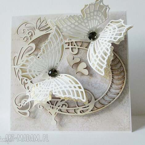 z motylami - w pudełku - ślub, rocznica, gratulacje, życzenia