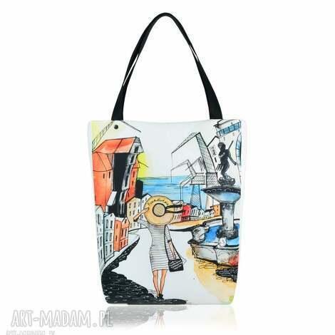 farbotka torebka shopperka 2031 gdańsk, na zakupy, pojemna torebki