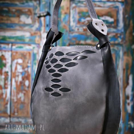 torebka torba ręcznie wykonana, torebka, szara torba, niepowtarzalna