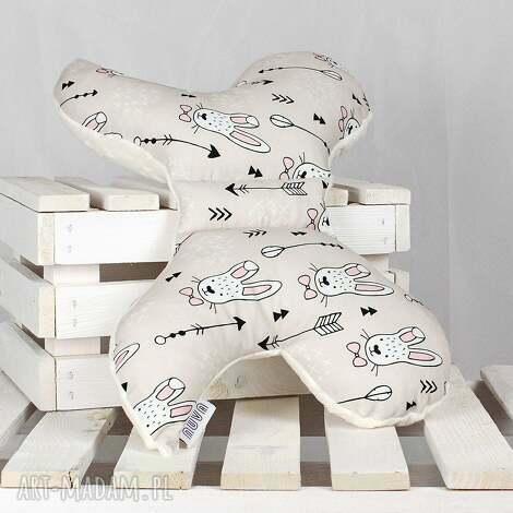 motylek- poduszka antywstrząsowa królik beż - antywstrząsowa, poduszka