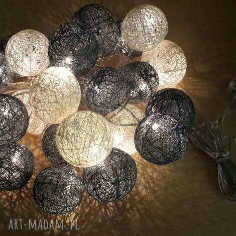 cotton balls 24 lampki w dwóch kolorach, cotton, balls, girlanda, dom
