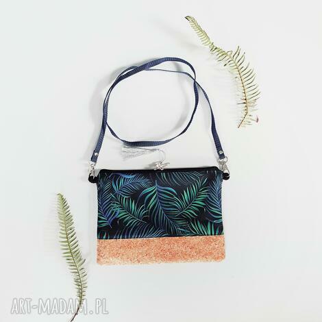 kopertówka gałązki palmy, kopertówka, korek, torebka, mała, listonoszka, wodoodporna