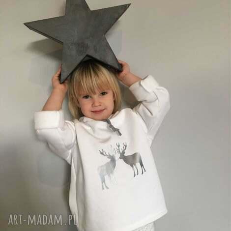 ubranka ciepła bluza z zimowym motywem jeleni, ciepła, elegancka, zimowa, świąteczna
