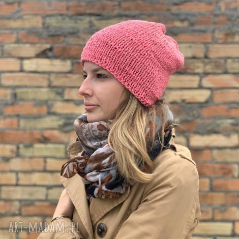 bezszwowa bawełniana czapka - czapka, bawełniana czapka, czapka na drutach