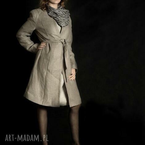 lniany płaszcz - płaszcz, lniany, len, moda, słowiański