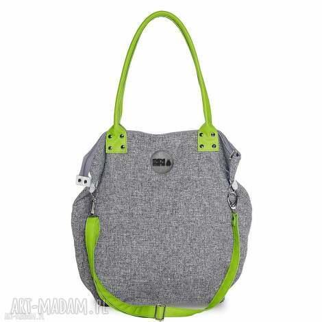 na ramię torba worek basmati limonka, duża, zakupy, podróż torebki