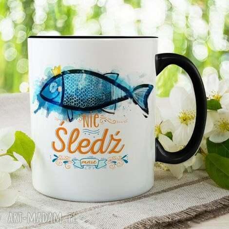 kubek nie śledź mnie, kubek, prezent, śledź, przyjaciele, orginalny, ryba