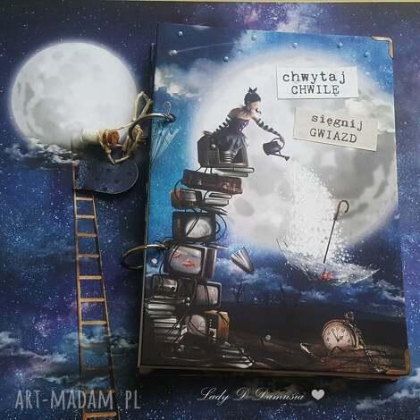 notes/pamiętnik/ magia księżyca, notes, księżyc, gwiazdr, buteleczka, serce