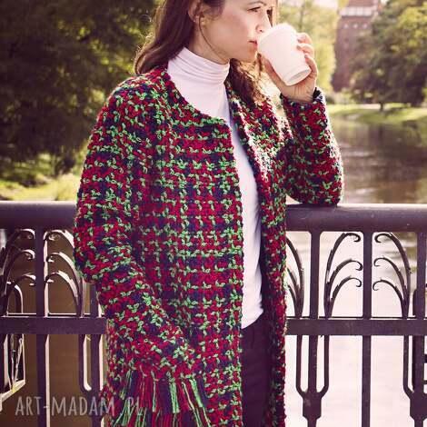 bien fashion długa elegancka kurtka damska na sezon przejściowy - elegancka