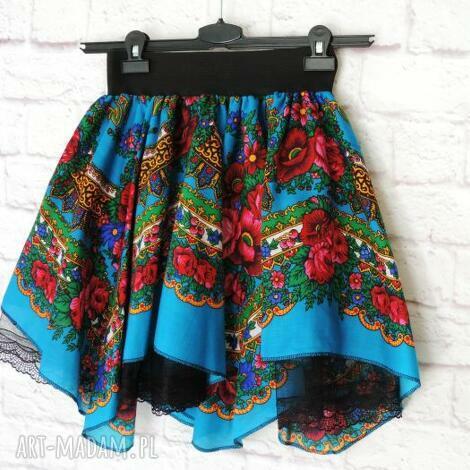 spódnica damska z tiulem folkowa góralska cleo, spódnica, góralska, folkowa, cleo