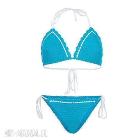 bielizna kostium kąpielowy casablanca szydełkowy, kostium, strój, bikini, plażowy