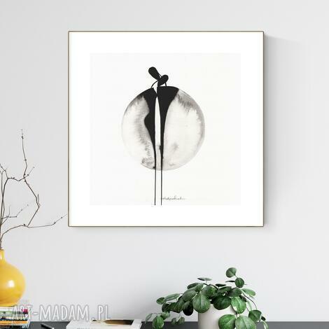 grafika 30x30 cm wykonana ręcznie, abstrakcja, obraz do salonu