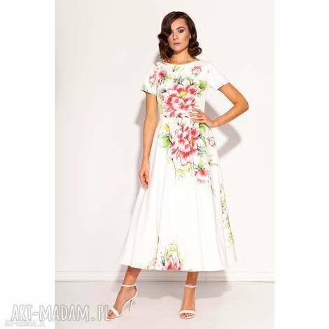 sukienki sukienka amarilla, wesele, poprawiny, światkowa, kwiaty, midi