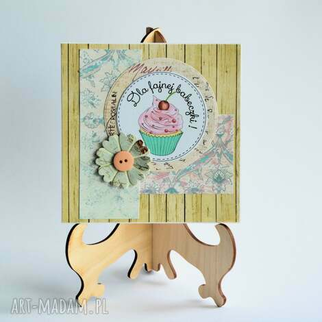 kartka - dla fajnej babeczki - kartka, uniwersalna, kobieta, przyjaciółka, mama