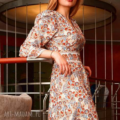 sukienka sofi wild birds, sukienki-como, sukienka-wzorzysta sukienki, pod choinkę