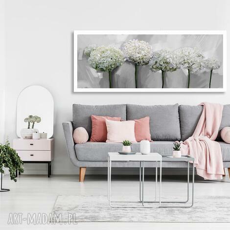obraz drukowany na płótnie kwiaty hortensji -duży format 150x60 0355 kwiaty