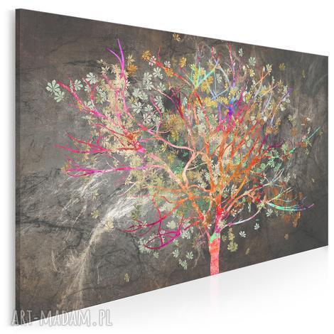obraz na płótnie - drzewo liŚcie kolorowy 120x80 cm 70401, drzewo, kolorowy, liście