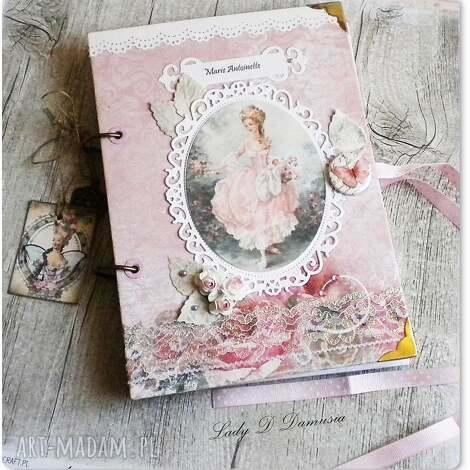 notes / pamiętnik paryski maria antonina, pamiętnik, notes, róże, paryski