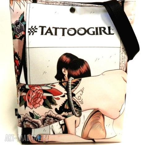 torba tattoogirl, pojemna, torebki