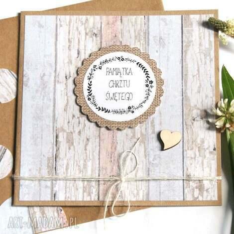 pamiątka chrztu świętego kartka handmade, chrzest, chrzciny