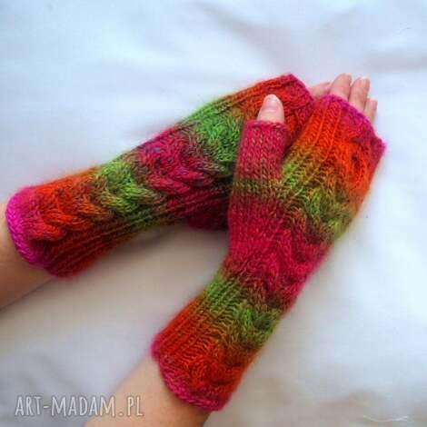mitenki tĘczowe - modne, kolorowe, ciepłe