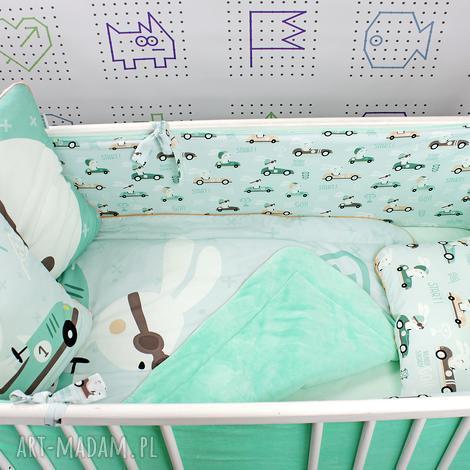 ochraniacz na łóżeczko 120x60 królik wyścig, spanie, chłopiec