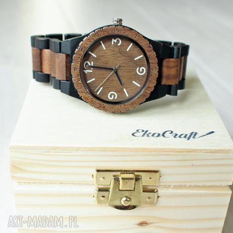 drewniany zegarek crow, drewniany, bransoleta, prezent, drewno, męski