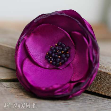 elegancka broszka przypinka kwiatek, upominek prezent dla niej, broszka kwiatek,