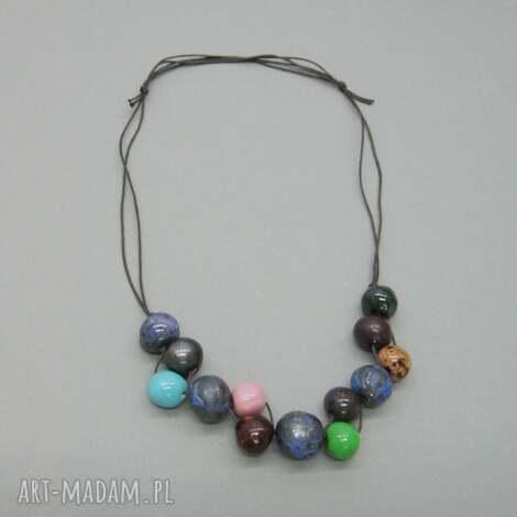 naszyjnik morska głębia - biżuteria, prezent, ceramika, uniwersalny, naszyjnik
