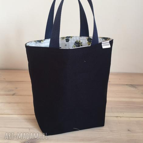 lunchbag by wkml godzina granatowej róży, śniadaniówka, śniadanie, lunch, eko-torba
