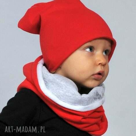 wiosenna czapeczka bawełniana czerwona, bawełna, czapka, wiosna