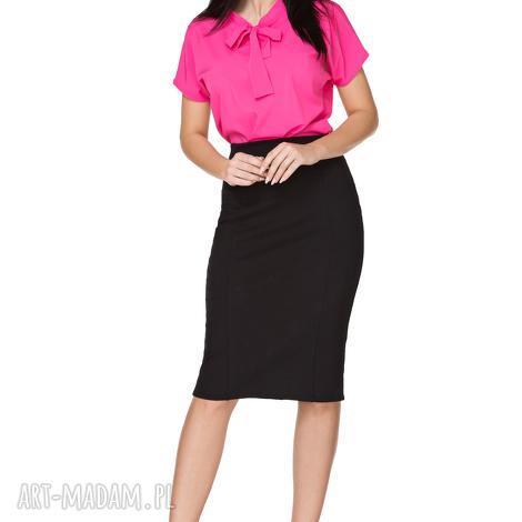 e93ee2a685ad0b bluzki elegancka bluzka z kokardą t223, ciemnoróżowa, bluzka, elegancka,  szyfon