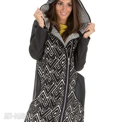 ce0a47666086f6 płaszcz z pikowanymi rękawami rozmiar 46 - płaszcz, kaptur, jesienny