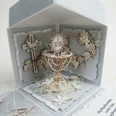 eksplodujące pudełko - komunia (pamiątka, chrzestna, chrzestny, życzenia)