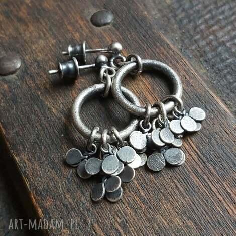 treendy minimalistyczne kolczyki ze srebra - listki